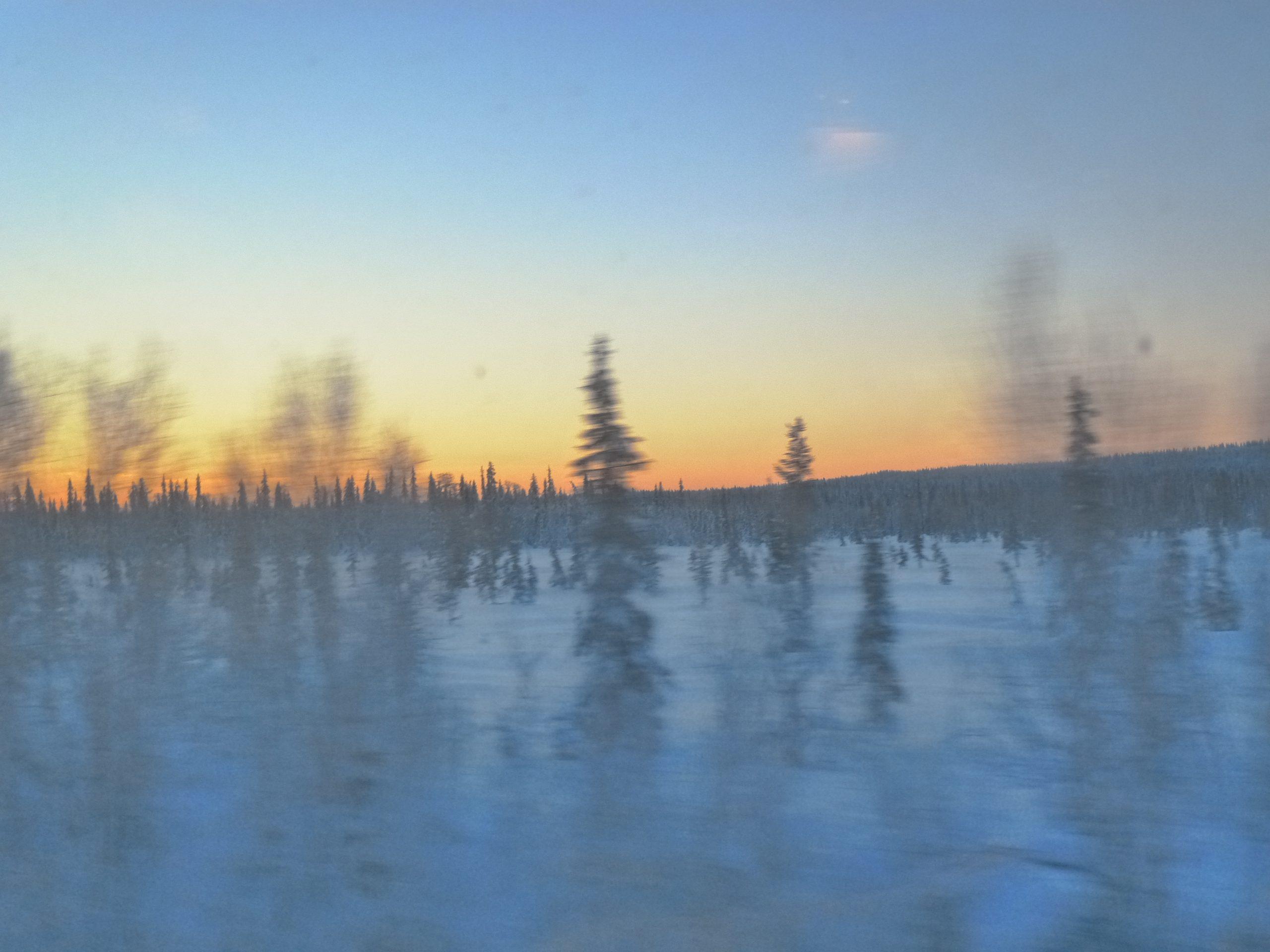 Souvenir   Vers le cercle polaire arctique